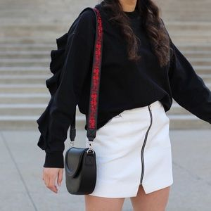 H&M Embroidered Crossbody Bag